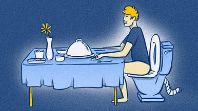 9% of Men Like to Eat When Using the Bathroom