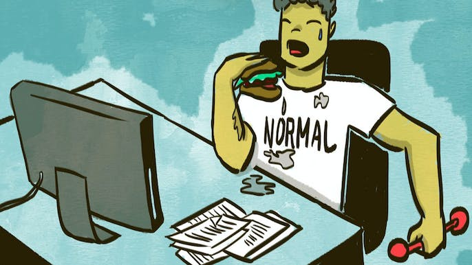 A Fitness Guide for People With No Free Time (and Who Eat When They're Stressed