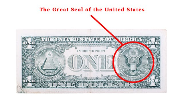 Heres What Every Marking On The One Dollar Bill Means Dollar