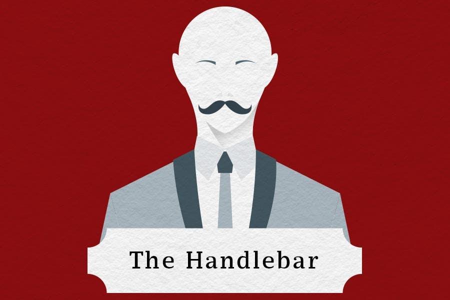 mustache styles handlebar