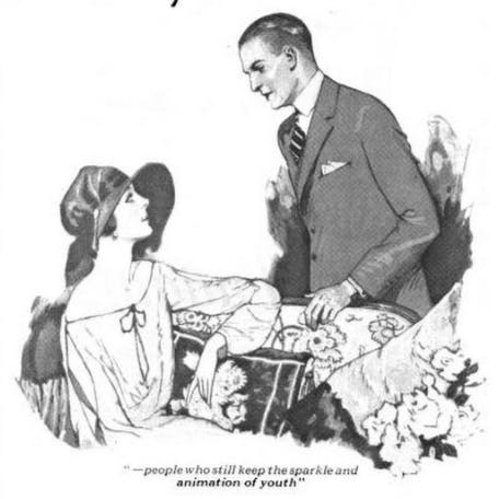 """These people should be dead, but they've been kept alive by yeast!"" Fleischmann's ad, 'The Ladies Home Journal,' 1922"