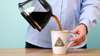 If You Drink Coffee at Work, There's a One in Five Chance There's Poop in It