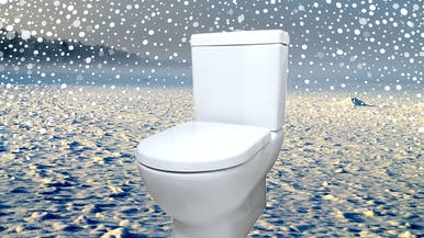 How to Warm up a Freezing Cold Toilet Seat